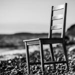 Stuhl an Strand Rügen